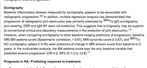 EULAR recommendations include scintigraphy screenshot