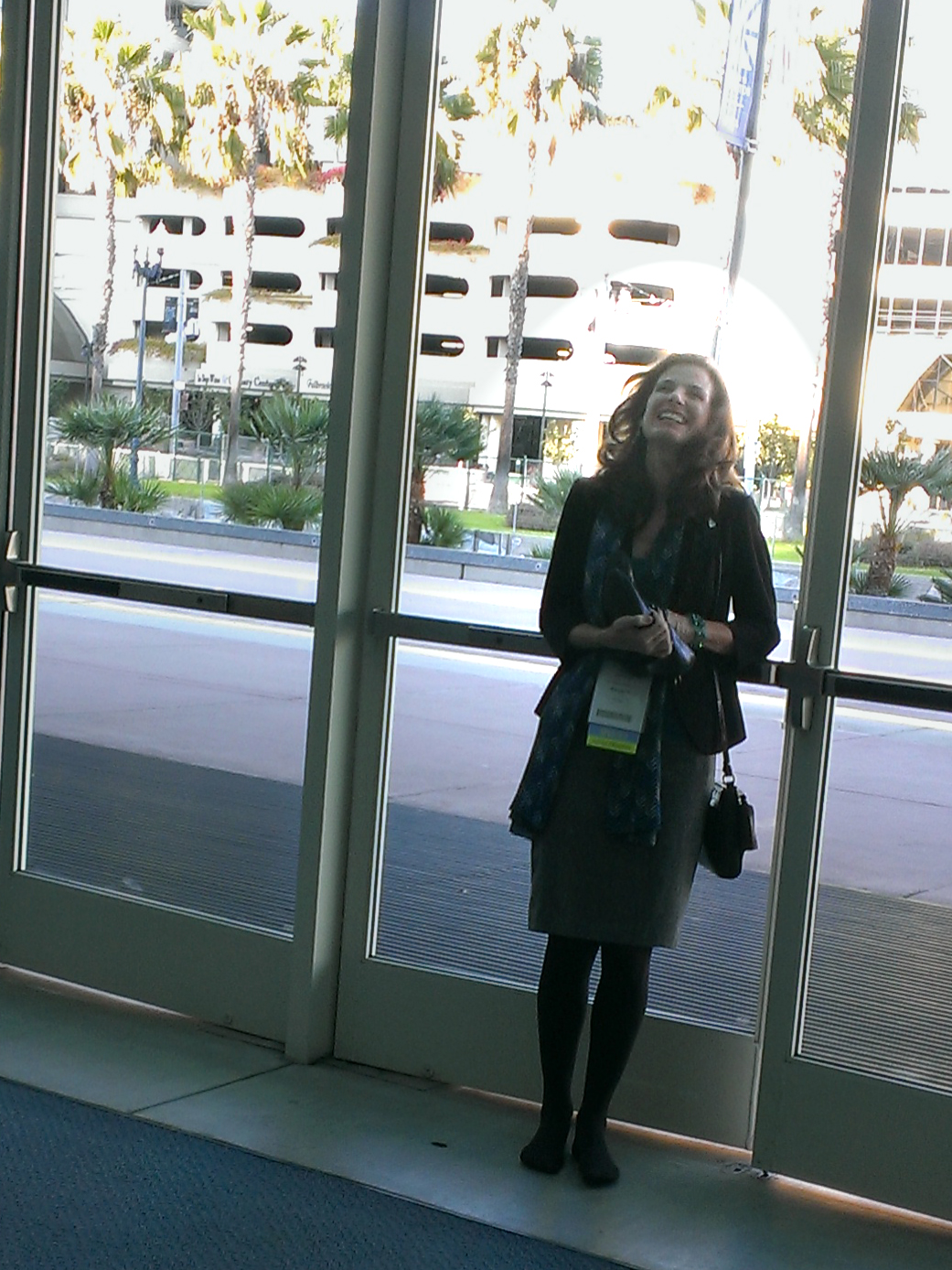 happy Kelly at door after ACR13