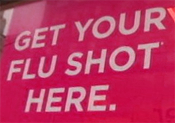 flu shot window sign
