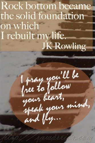 JK Rowling quote about life after fear and failure