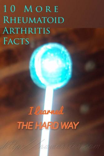 rheumatoid arthritis facts blue lollipop