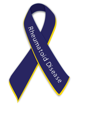Rheumatoid Arthritis awareness ribbon aka Rheumatoid Disease ribbon