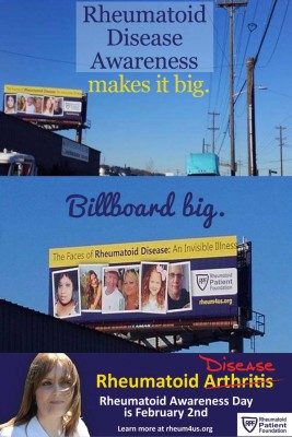 rheumatoid disease awareness billboards